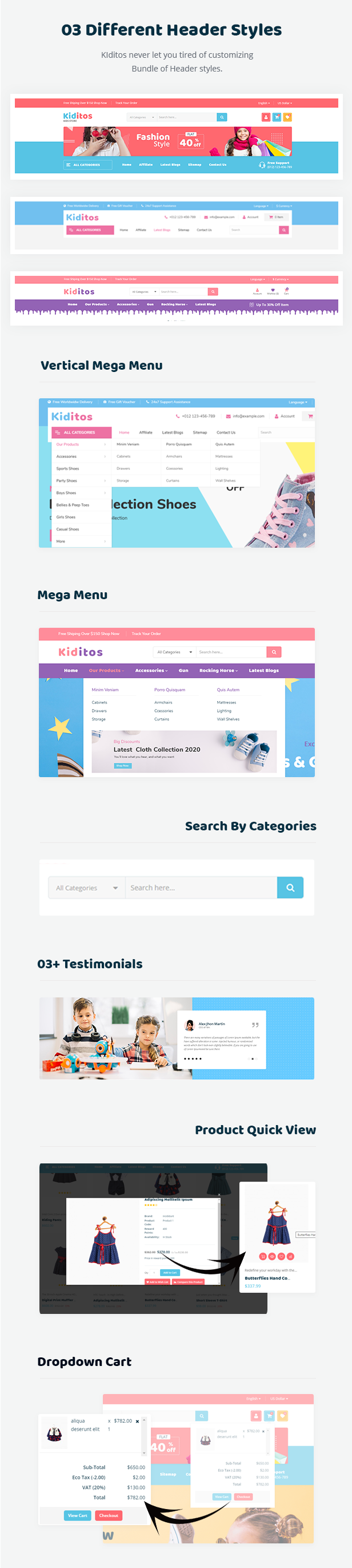 Kiditos WooCommerce Theme